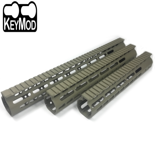 10/12/15 Inch Free Float Handguard Rail KeyMod Mount Picatinny Rail Flat Dark Earth For .223/5.56(AR15) Spec