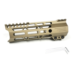 7 Inch Lightweight Clamp Mount Type M-LOK Handguards Edge CNC Chamfering For .223/5.56(AR15),Golden Coor