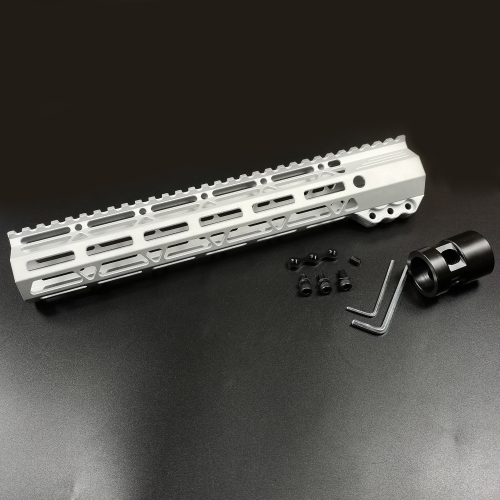 12 Inch Clamping Mount M-LOK Handguard Top Rail fit .223/5.56 (AR15) Raw aluminum Color