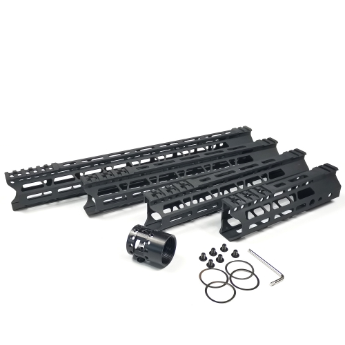 7/10/12/15 Inch  M-LOK Handguards Edge CNC Chamfering For .223/5.56 Black Color