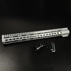 17 Inch Clamp mounted design KeyMod Handguard Top Rail Fits .223/5.56 (AR15) Spec Raw aluminum